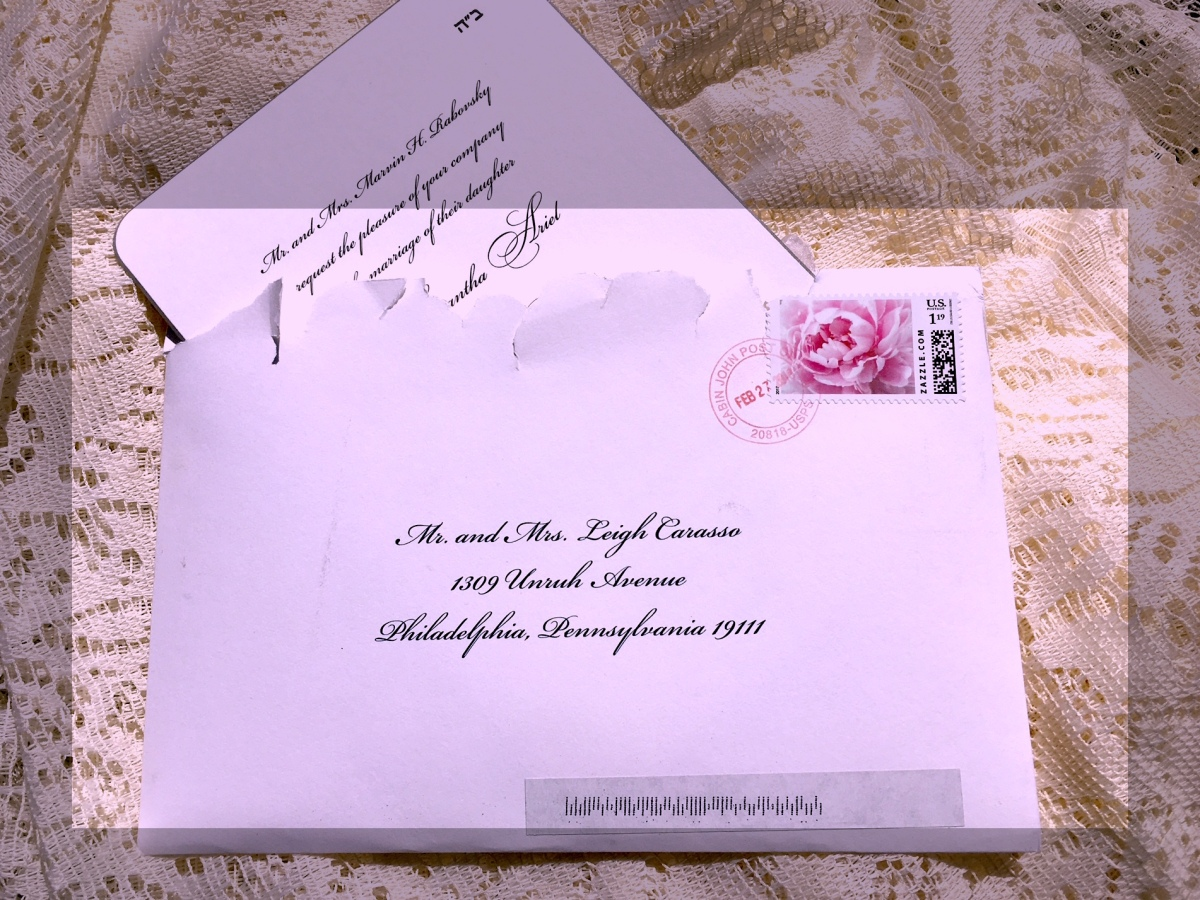 Lovely addressing in black with invitation