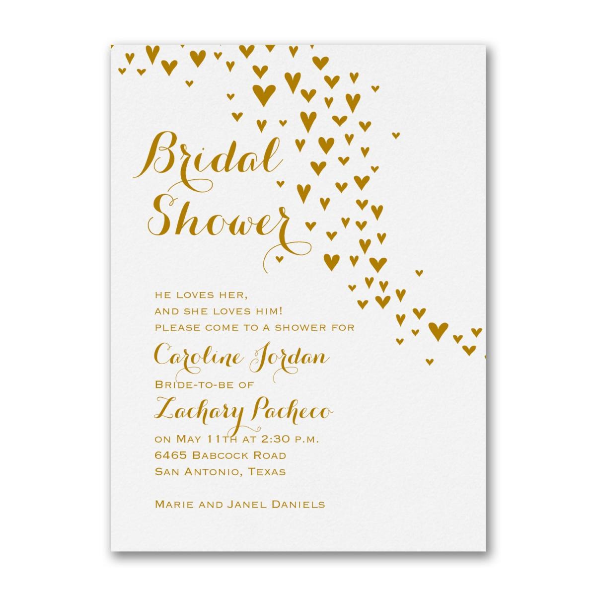 All Heart - Bridal Shower Invitations