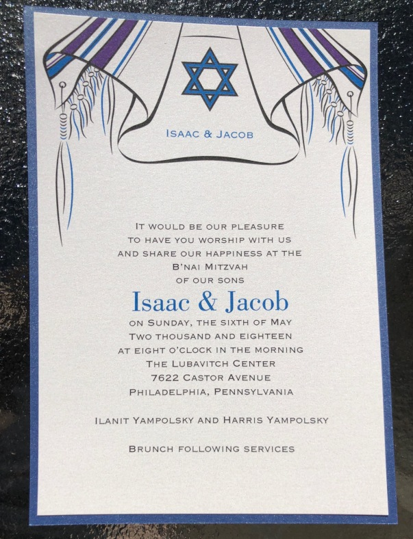 Bar Mitzvah with backer